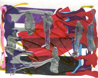 Abstract Card Study #16 - 4x6 greeting card art
