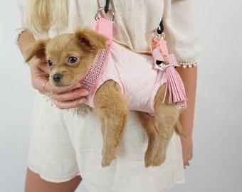 Pawz Purse, Pet Purse Carrier, Pet Travel Bag, Airline Friendly, Hands Free leash, Pet Sling Carrier,grooming sling,Pet purse,Quilted Bag