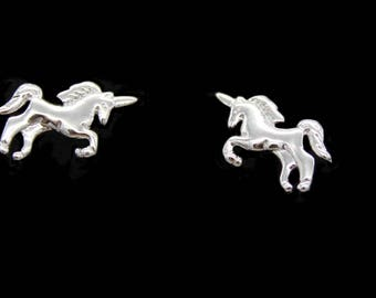 """Little Unicorn with silver"" earrings"