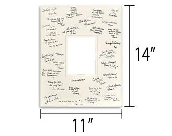 11x14 Signature Mat - Multiple Colors - Multiple Opening Sizes