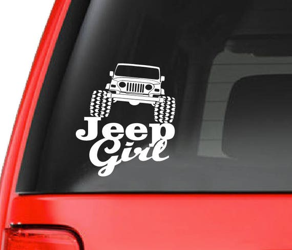 Jeep wrangler decal jeep girl custom car window vinyl decal