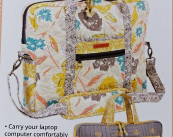 Laptop Computer Carrier 2.0, By Annie, Printed Paper Sewing Pattern, Case, Satchel, Bag