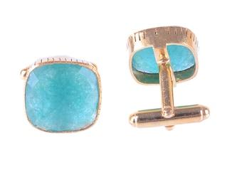 Cufflinks Men's Cufflinks 925 sterling silver with Blue Onyx Gemstone Men's Cufflinks. Gold vermiel Beautiful Gift for him.