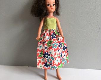 Vintage Sindy Dress, handmade.