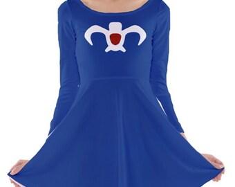 Made to Order (Ships in 4 weeks)  Nausicaa Inspired  Long Sleeved Skater Dress