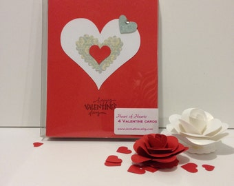 Valentine's Day Cards - Set of 4