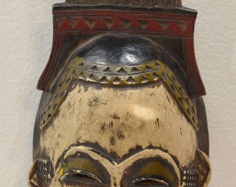 African Mask Baule Mali Wood Portrait Respect Family Wisdom Portrait African Wood Mask