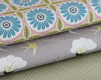 HALF YARD Bundle- Anya- Monaluna, Certified Organic Cotton, Three Prints