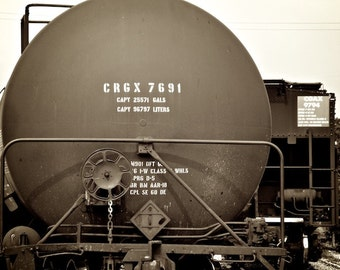 Sepia Photography Train Themed Art, Train Decor