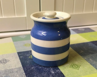 Vintage Cornishware Kitchen Storage Container-Small Canister - 1930-1950s  T.G. Green