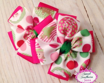 Christmas Cutie Bow Set - Pinwheel Bow Set