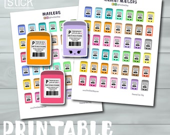 Kawaii Printable Stickers - Mailers Happy Mail - Perfect for your Erin Condren Planner, Happy Planner or any other!