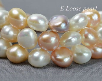 AAA Baroque pearl Pebble Large Hole Freshwater Pearl Potato Loose Pearl Mixed Color 11.5-12mm 35pcs Full Strand Item No : PL3099