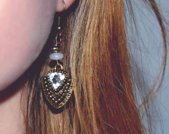 Antique brass earrings