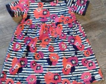 Girls Dress,Childs Dress, Size 5, Jersey Dress,