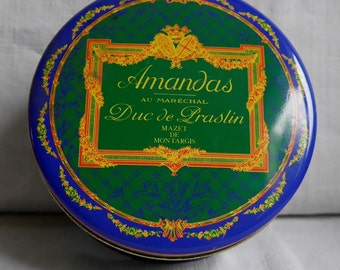 Box of candy traditional - France Montargis Mazet - Amandas - Duke of Praslin - 13cm - 6 cm
