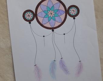 Dreamcatcher - Mandala Print