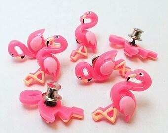 Retro Pink Flamingo Pin Brooch