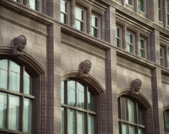 Fort Worth, Texas, Building, Architecture, 714 Main - Terra Cotta Heads