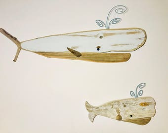 Large Size Driftwood White Whale