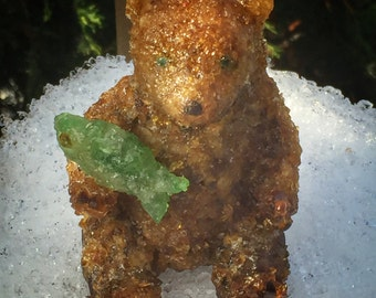 Brown Bear Sea Glass Figurine