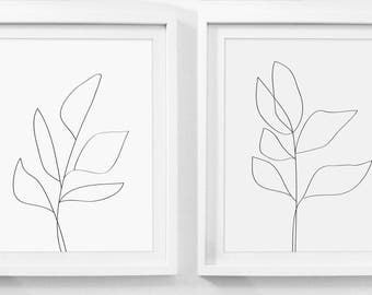 Diptych, Modern Art Set, Wall Art Set of 2, Wall Art Set, Prints In Two, Two Set Print, Diptych Art, Modern Print Set, Framed Botanical Set
