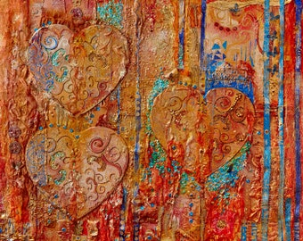 One Love Mixed Media Wall Art
