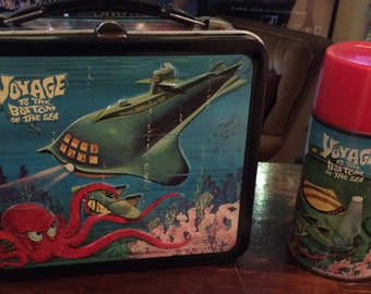 1967 Vintage Lunchbox & Thermos Set: Voyage to the Bottom of the Sea