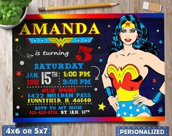 wonder woman Invitations,wonder woman party, Wonder Woman Birthday, Wonder Woman favors, Wonder Woman Invites, Wonder Woman Birthday Invite