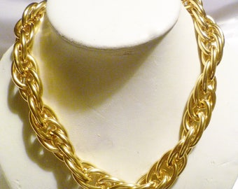 Vintage Bold Chain Chunky Necklace, Chunky Gold Chain, Chunky Curb Chain, Gold Thick Chain, Large Gold Chain