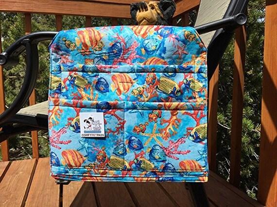 Coral Reef Walker Bag, Stroller Organizer, Chair Caddy, Beach Accessories, Size 13x13x27