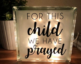 For This Child We Have Prayed Night Light