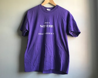 90s I'm A Witch T-shirt - L