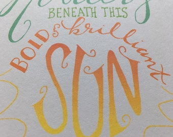 Hands and Holders hand-lettered cards