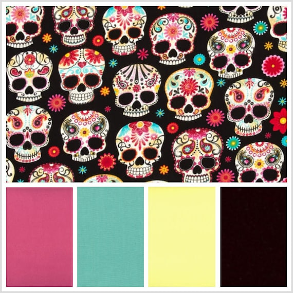 Sugar Skulls Weighted Blanket, Cotton, Up to Twin Size, 3 to 20 Pounds, 3 to 20 lb, Adult Weighted Blanket, SPD, Autism, Calming Blanket