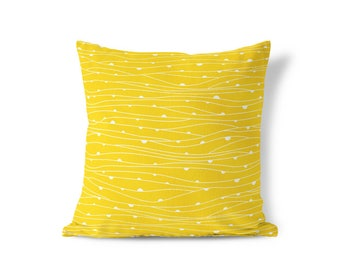 Modern Yellow Pillow - Modern Farmhouse - Striped Pillow Sham - Modern Home Decor -  Decorative Pillow - Textured Pillow - Accent Pillow