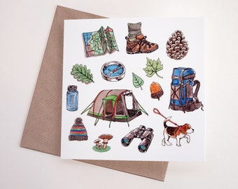 Outdoors Art Greeting Card | Any Occasion | Blank Inside
