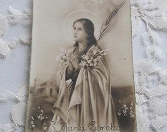 Saint Maria Goretti Religious Card Holy Card