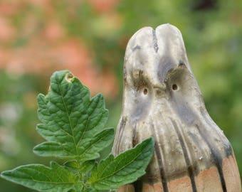 garden dwarf tiny ceramic rabbit figure ash glaze woodfired FREE SHIPPING