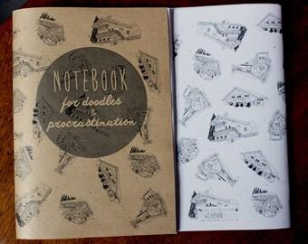 SALE Winter Chalets Notebook & Pencil set