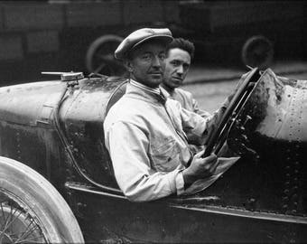 Poster, Many Sizes Available; Pietro Bordino At The 1922 French Grand Prix