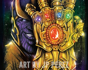 Infinite Power | Epic Space Super Villain | Painting | Poster | Geek Gift