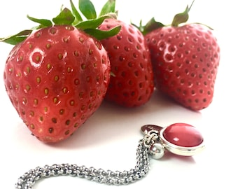 Strawberry Cheesecake Necklace