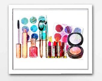 Makeup Bag, Makeup Brush Holder, Makeup Organizer, Cosmetics, Blush, Lipstick Print, Fashion Blogger, Makeup Print, Beauty Blogger, Vanity