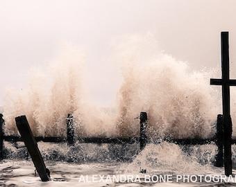 Crashing waves, Happisburgh - large photo print