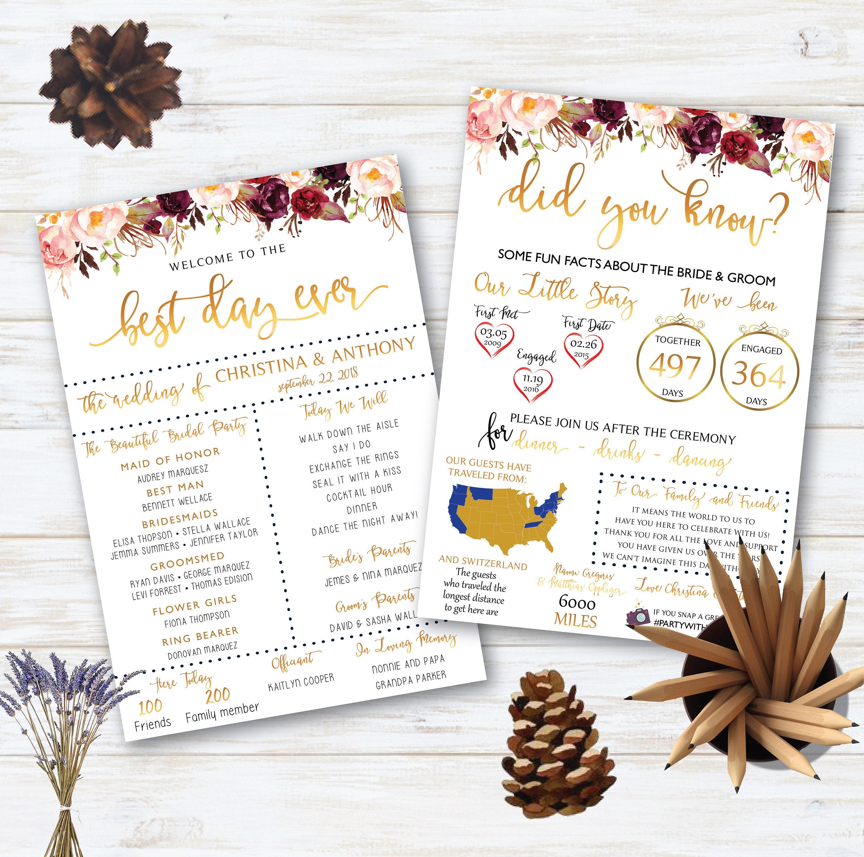 Infografik-Hochzeit-Programm Spaß Hochzeitsprogramm