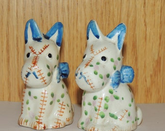 Whimsical Scottie Dog Salt and Pepper Shakers