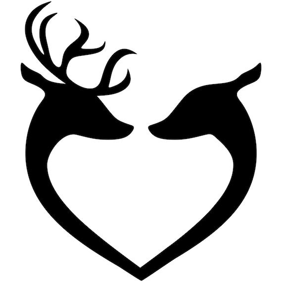 deer svg buck and doe svg deer couple silhouette deer rh etsy com deer head clip art free shotgun deer head clip art black and white