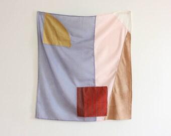 Geometric Scarf // One of Kind // Sustainable Clothing // Eco Dyed Scarf // Remnant Textiles // Bandana