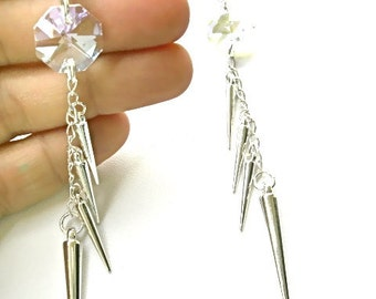 LEONA Lemon-Lime Spike Earrings. Fast Shipping from the USA. Will Arrive in Gift Box with Ribbon.